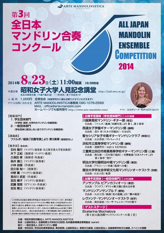 第3回全日本マンドリン合奏コンクール